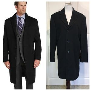 NWT! Cashmere! JoS Bank 100% cashmere topcoat